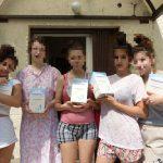 Adományosztás egy budapesti gyermekotthon lakói számára