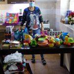 Adományosztás egy csepeli gyermekotthon számára