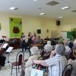 Zenekarunk az Olajág Idősek Otthonában