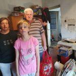 Rászoruló család látogatása