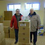 Ajándékozás a csepeli Hajléktalan Szállóban