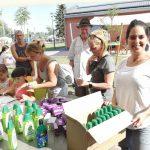 Ajándékozás a Csepeli Napközis Tábor megnyitóján